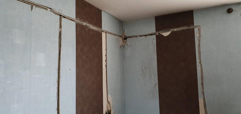 Neu verlegte Stromleitungen im Haus - Altbau