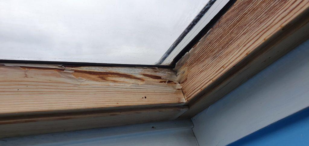Dachfenster durch Feuchtigkeit im Badezimmer zerstoert 1