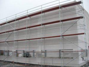 Halle Neubau mit kompletter Eingerüsteter Front