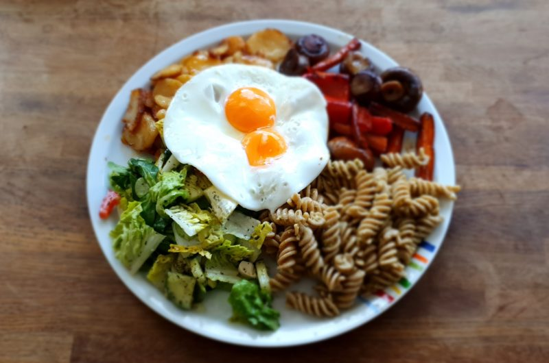 Lecker Vegetarisch Essen am Sonntag Mittag