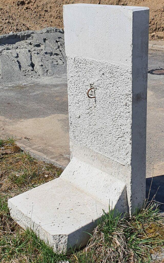 L Stein aus Beton für Abgrenzung Hang Stabilisierung usw.